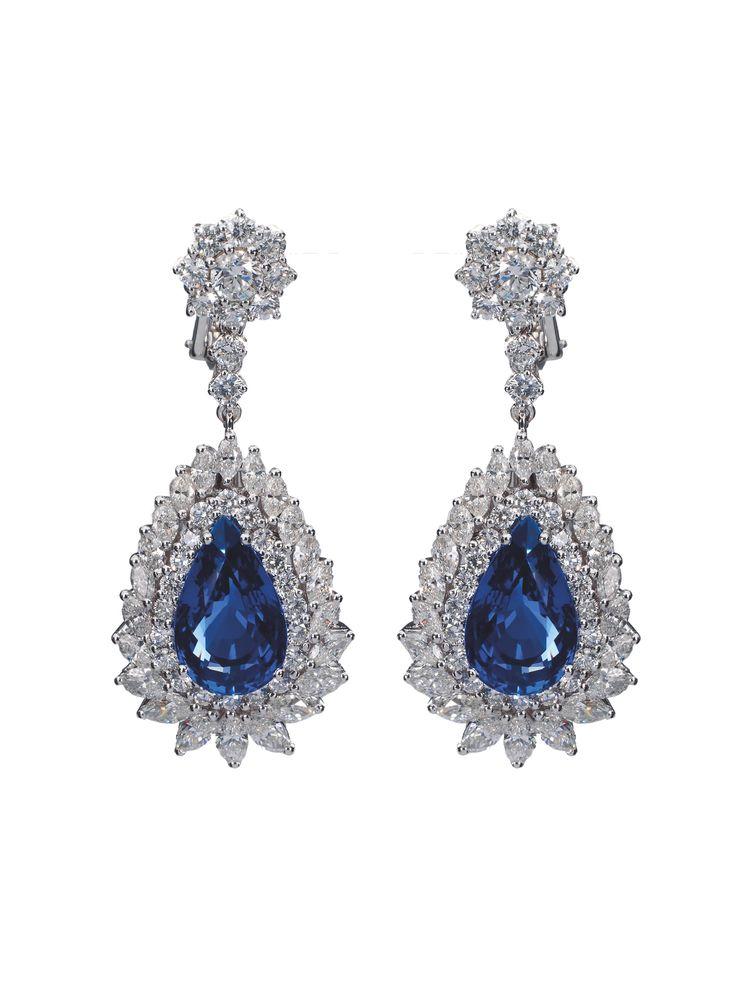 Perfect Couple of Ceylon Sapphire Earring