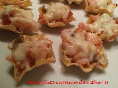 Les plats cuisinés de Esther B: Bouchées fondantes aux crevettes et à la salsa