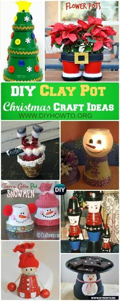 Decorate Your Christmas with these Fun Joyful Flower Clay Pot Christmas Craft Projects   via @diyhowto
