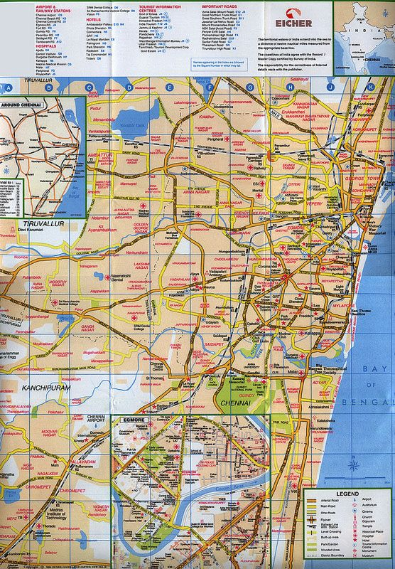 Chennai, Incredible India; 2004_2 map, Tamil Nadu state, India | tourism travel brochure | by worldtravellib World Travel library