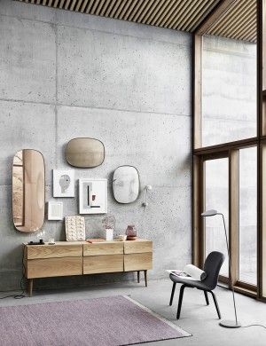 Use mirrors with colored glass and frame as part of wall decoration, hang them between different images and paintings as part of your gallery wall or just the mirrors together for a unique detail. Offcource you can also use them as mirrors in the hallway, bedroom or in the bathroom, to add a twist o nordic design from Muuto to the deocoration.