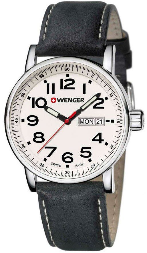 Wenger Watch Attitude Day Date #bezel-fixed #bracelet-strap-leather #brand-wenger #case-depth-10mm #case-material-steel #case-width-41mm #classic #date-yes #day-yes #delivery-timescale-4-7-days #dial-colour-white #gender-mens #movement-quartz-battery #new-product-yes #official-stockist-for-wenger-watches #packaging-wenger-watch-packaging #style-dress #subcat-attitude #supplier-model-no-01-0341-101 #warranty-wenger-official-3-year-guarantee #water-resistant-100m