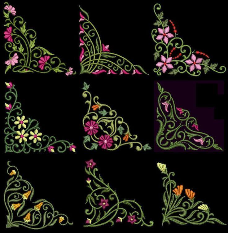 floral corners godenstitchcom ebay