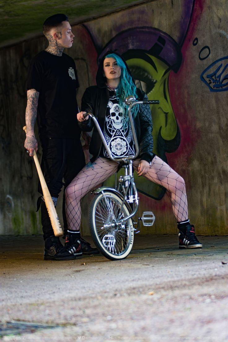 """Monogram"" Tee, ""Conspiring"" Women's Tee & ""Teethed Glory"" Leather Sleeved Jackets all available at www.crmc-clothing.co.uk | WE SHIP WORLDWIDE  Models - @ryan_davieshall & @cybermaikitten Photography by @photoanarchy  #apparel #streetwear #streetfashion #alternativeguy #fashionista #fashionstatement #fashionofinstagram #alternativeteen #alternativegirl #alternativeboy #fashiongram #instafashion #fashionaddict #menwithtattoos #tattoooedmen #guyswithtattoos #tattoos #picoftheday #dailyfashion"