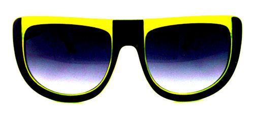 UFO Retro Sport Sunglasses - 128 Black/Yellow $16