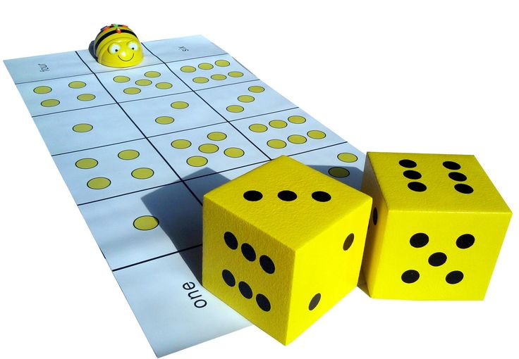 Great idea to use with the Bee-Bots - a Dice Mat! You can make these yourself or (I'm sure) buy them. ~Bon