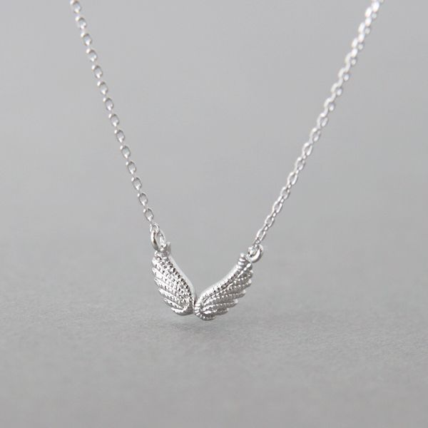 Sterling Silver Angel Wing Necklace at Kellinsilver