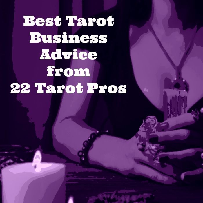 I've gathered some sage tarot business advice from some of my favorite tarot pros.  Practical tips for your tarot business, tarotpreneur! #tarot
