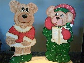 Country Bear Christmas on the lawn or verandah, even on a windowsill