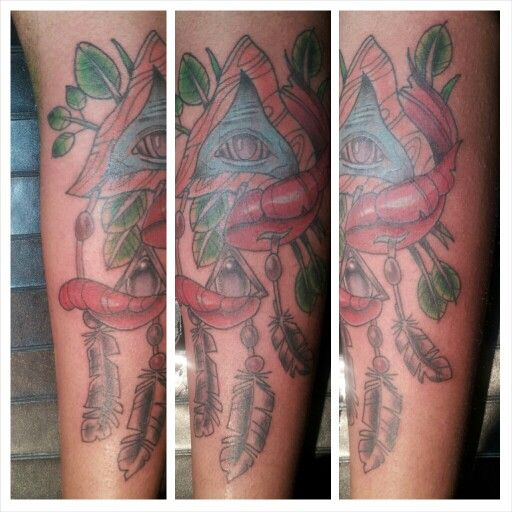 Illuminati dreamcatcher  by kevin james tattrie