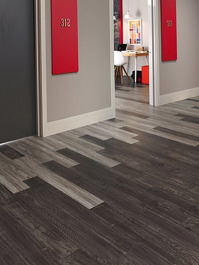 Beautiful Like This Floor As A Way To Break Up The Linear Feel Of A Hallway? Also,  The Office Number Panels Are Great. Metal So You Can Use Magnets To Leave  Notes And ...