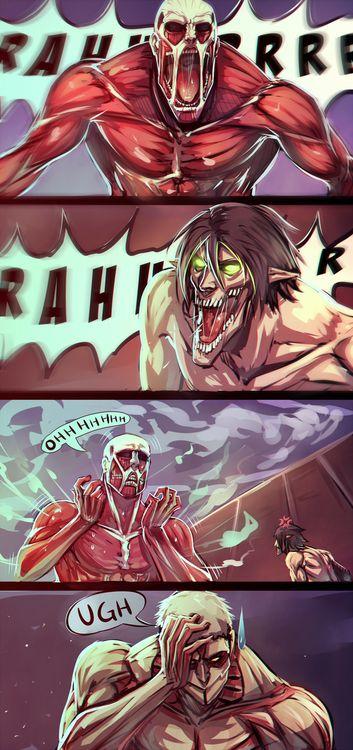 Titan conversation | Attack on titan, Attack on titan funny, Anime