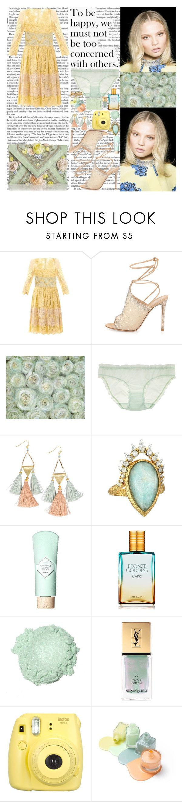 """""""Say my name Wear it out like a sweater that you love 'Cause I can't get enough when you Say my name Spill it out like a drink you should have skipped You're the one I wanna get when you Say my name Let it roll, let it roll off your tongue Let me know,"""" by labelsoflove ❤ liked on Polyvore featuring Dolce&Gabbana, Gianvito Rossi, Araks, NAKAMOL, Alexis Bittar, Benefit, Estée Lauder, Yves Saint Laurent and Fujifilm"""