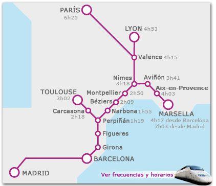 Descubrir Francia aprovechando la ruta de tren de alta velocidad Barcelona-París