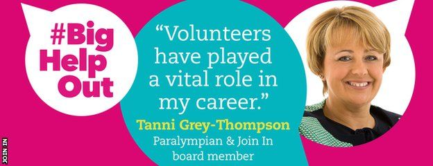 """Tanni Grey-Thompson """"Volunteers have played a vital role in my career"""""""
