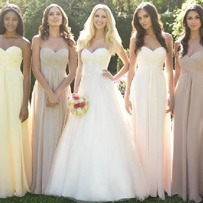 Sweetheart A-line Bridesmaid Dress with Ruching Detail, Empire Bridesmaid Dresses, Modern Long Bridesmaid Gowns