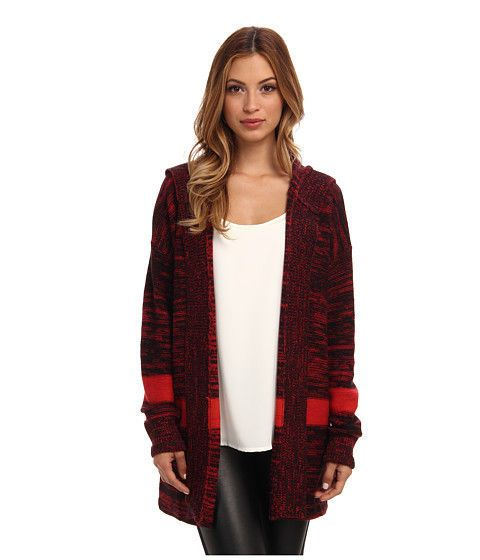 Sanctuary Clothing Beetroot Red Blanket Cardigan Sweatercoat Medium M