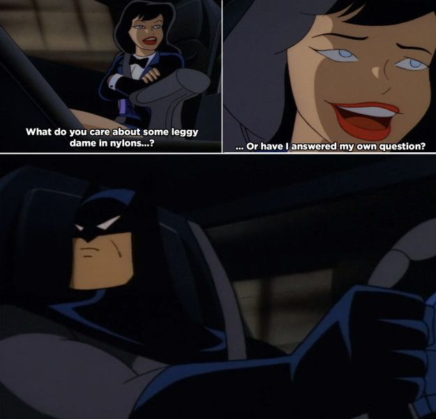 That time Zatanna questioned Batman's motives for helping her. | 21 Adult References You Never Noticed In '90s Batman Cartoons