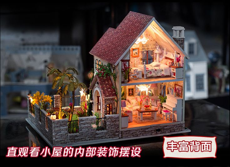 Home Decoration Crafts DIY Doll House large Wooden Dolls House 3D Miniature…