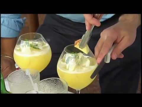SIMPLY MING VODCAST 1013: The Azores - Pineapple Cocktail  Via SimplyMing Youtube  We head to the beautiful island of Sao Miguel in the Azores for this week's SIMPLY MING vodcast. Learn how to make a pineapple cocktail from a local mixologist.  #Portugal