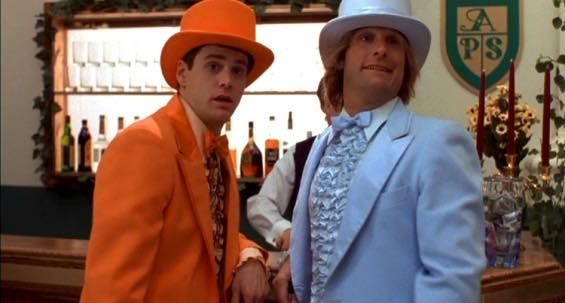 "Now these are some stylish suits...would you like to see @mrsilverscott and I dress up as Llyod and Harry from ""Dumb and Dumber""?"