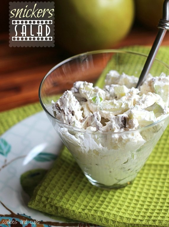 SNICKERS SALAD (MAYBE WITH SOME COTTAGE CHEESE)