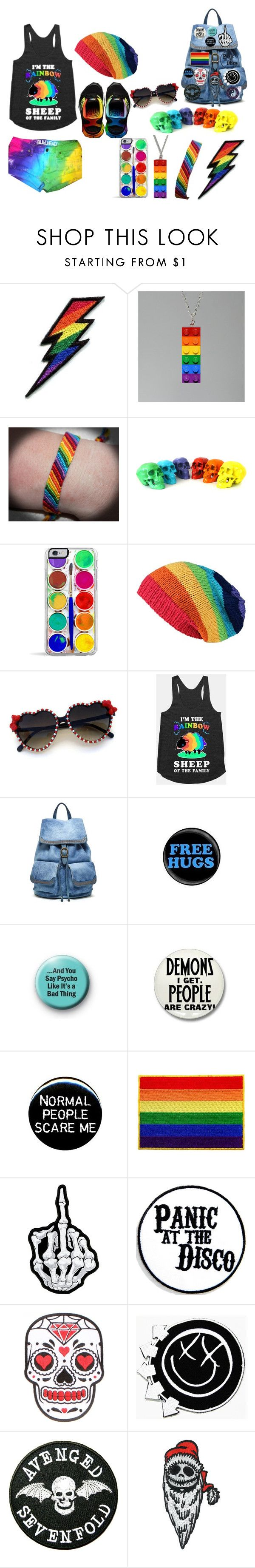 """""""My outfit for the #GayPrideFestival"""" by batman-nat ❤ liked on Polyvore featuring Retrò, Old Trend, Burton, rainbow, gay, pride and gaypride"""