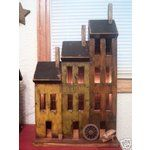 free images to make saltbox houses | eBay Image 1 Primitive Lighted Saltbox House Large