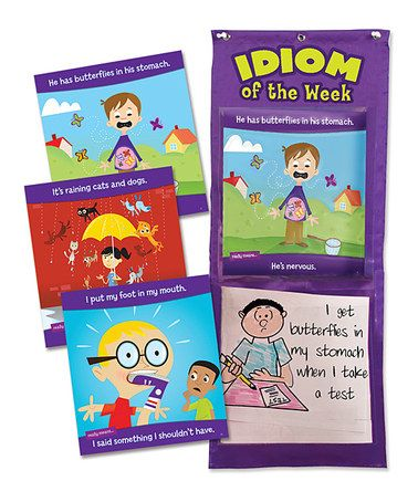 Take a look at this Idiom of the Week Pocket Chart Set on zulily today!