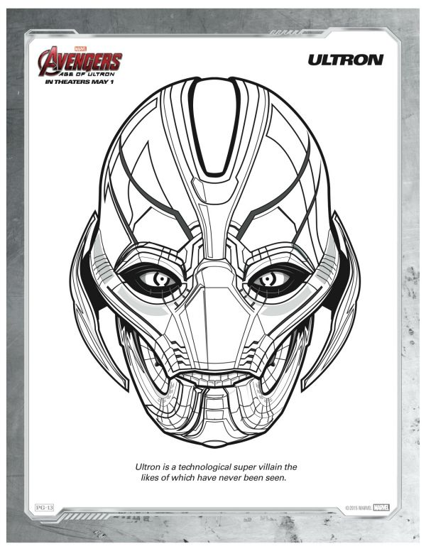 Coloring Pages Avengers Ultron : Best images about maskeler on pinterest print