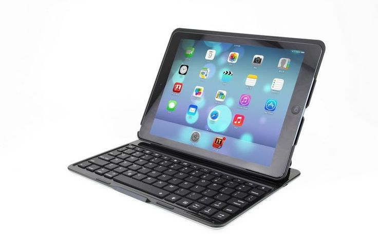iPad air toetsenbord hoes keyboard case met backlight Air KEE Zwart