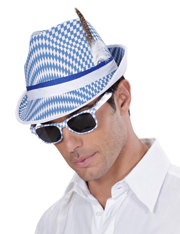 Per l'Oktoberfest anche gli occhiali da sole si tingono di blu e bianco e diventano...bavaresi! per un look da festa della birra impeccabile!