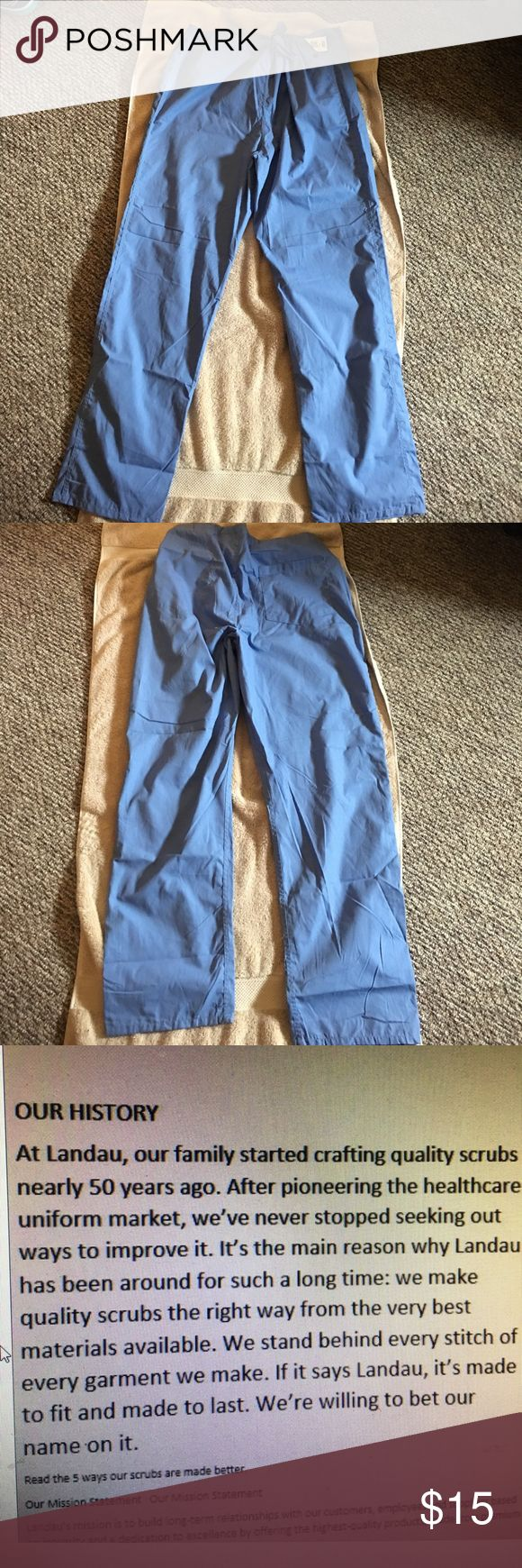 "Landau Scrub Pant Large Ceil Blue NWT Landau Scrub Pant Large Ceil Blue NWT Matching Top Available in separate Listing Pant is Reversible Inseam 32"" Landau Pants"