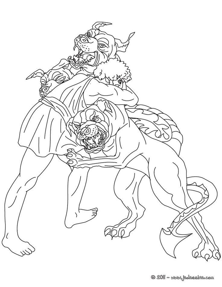 Voici un coloriage historique sur la mythologie grec avec ...