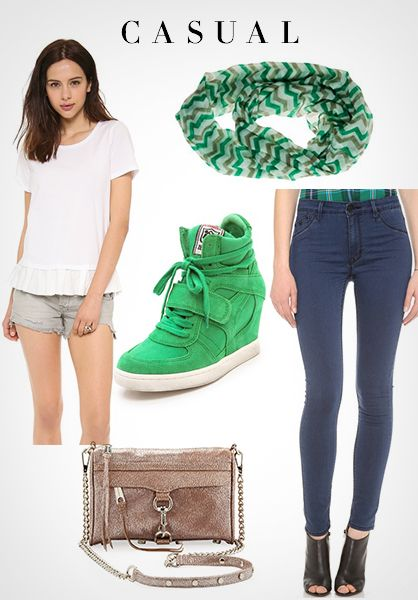 Casual St. Patty's Day Style #fashion