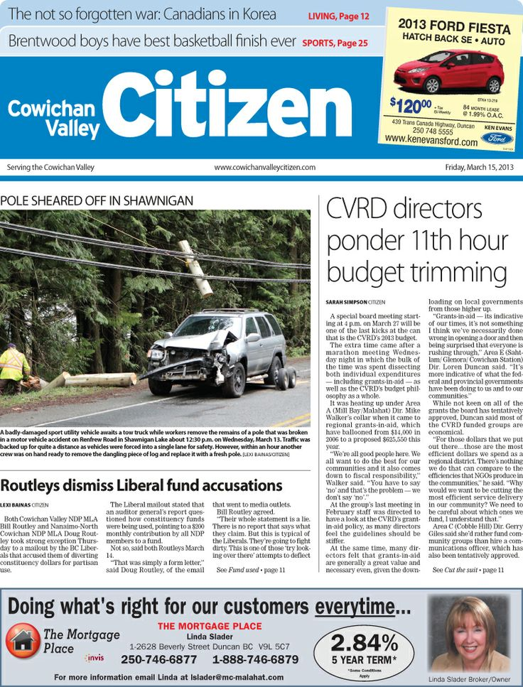 Citizen Front Page, March 15, 2013.