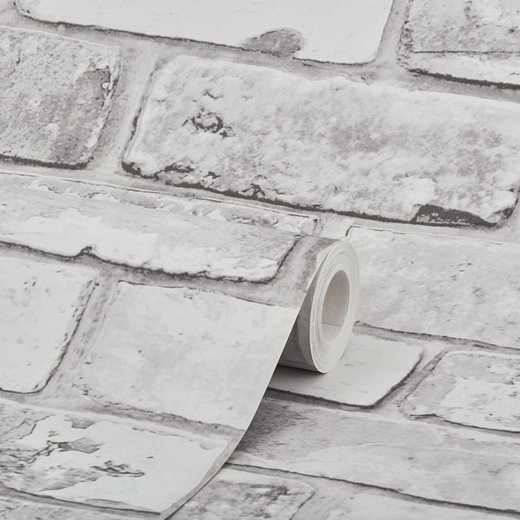 Find This Pin And More On Bedroom Ideas For Dad S House By Xlottiexmayx Debona Rustic Brick White Wallpaper
