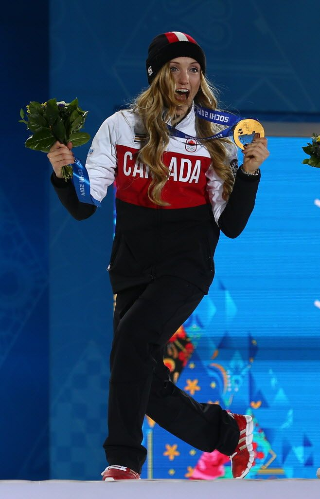 Gold medalist Justine Dufour-Lapointe of Canada