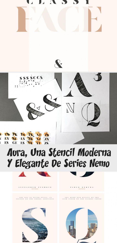 Aura, una stencil moderna y elegante de Sabina Chipara # ...