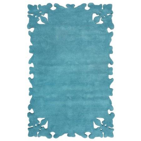 Teal cutaway rug