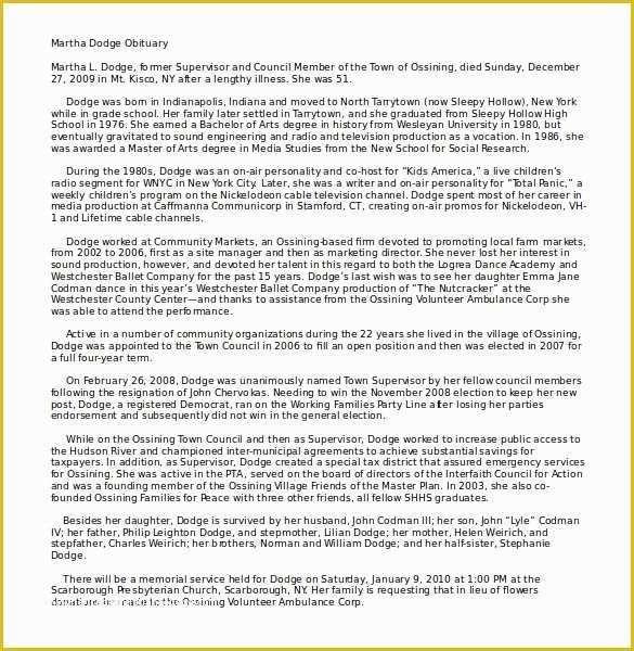 Free Obituary Template Of 10 Microsoft Word Obituary Templates