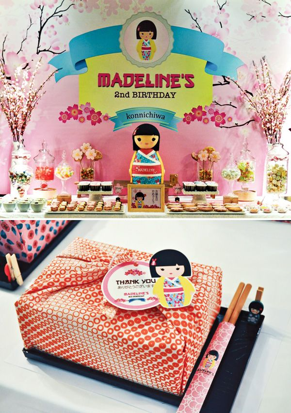 Cheerful Japanese Kimmidoll Themed Party                                                                                                                                                      More