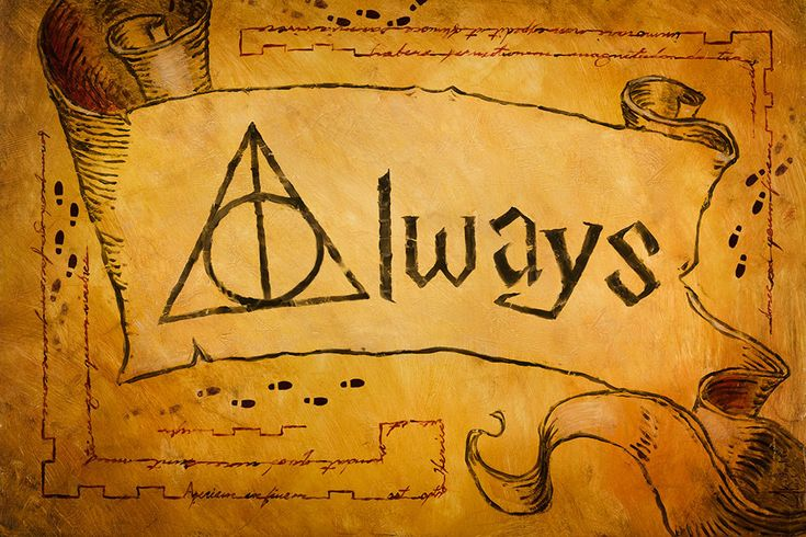 """To purchase a giclée or print, email art@christopherclarkart.com  This is an original Harry Potter oil painting by fine artist Christopher Clark. One of the best quotes from the whole Harry Potter series is just one word, """"Always"""". I represented it here with a few themes from the stories, mainly the Marauder's Map, as well as the Deathly Hallows. I solemnly swear I am up to no good… Always.   Oil paint on wood panel.   I am available for custom commission paintings of all kinds…"""