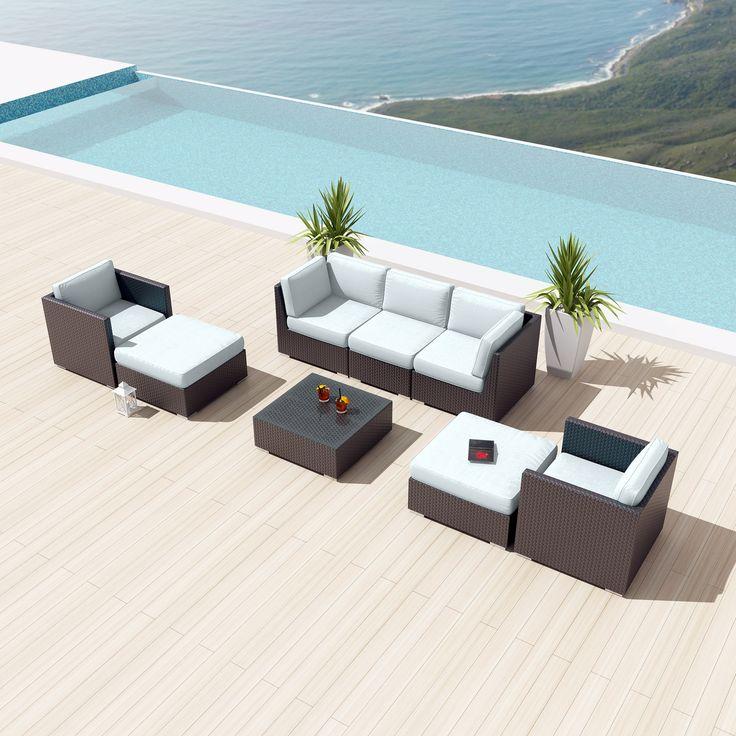 Uduka Bangalore 8 pcs Outdoor Sectional Patio Furniture Sofa Set