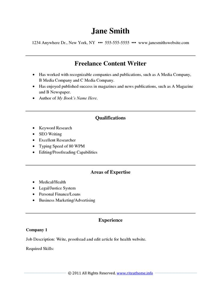 Freelance Writer Resume Resume For Your Job Application. Sound