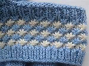 loom knitting stitches - star stitch