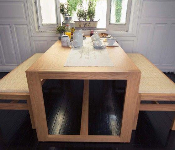 Conjunto micnic 1 mesa 2 bancas sentarse muebles dream home pinterest mesas - Bancas para comedor ...