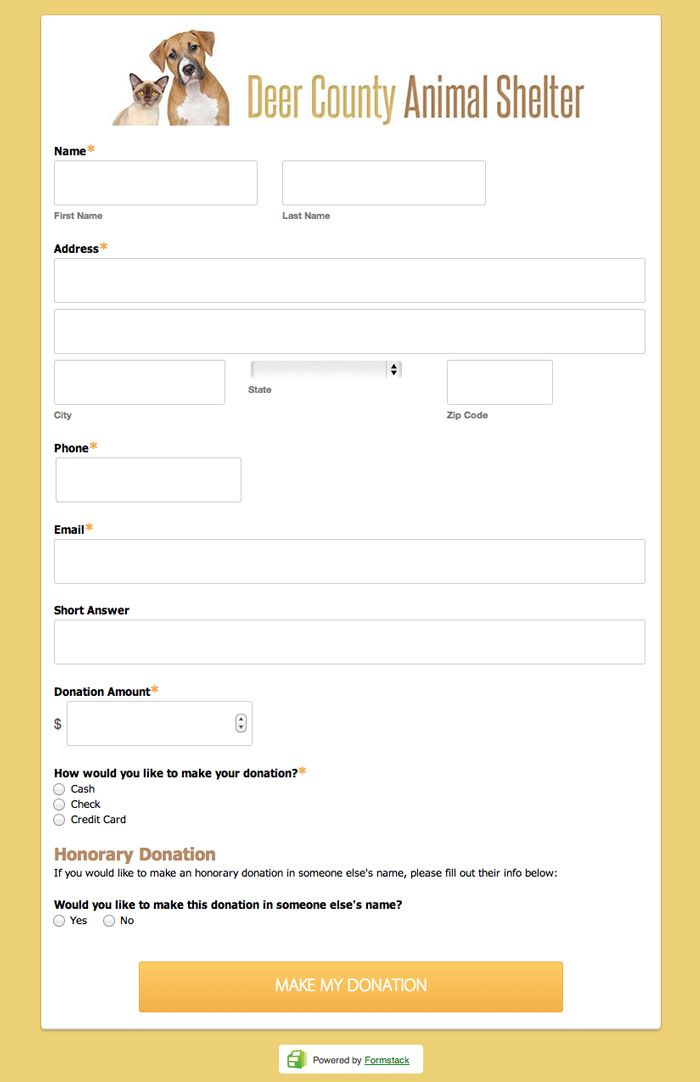 20 best Online Form Templates \ Form Design images on Pinterest - donations template