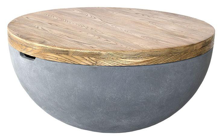 Köp - 2495kr! Douglas soffbord - Ek / Betong. Ett unikt soffbord där man använder komposit och målar det