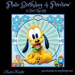 Pluto Birthday 4 Mini Kit on Craftsuprint - View Now!